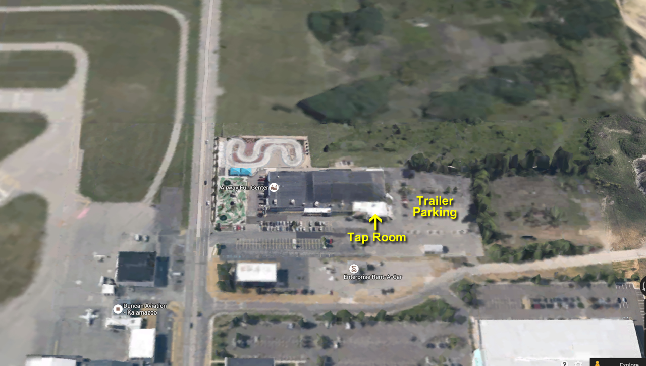 Tap Room at Airway Lanes & Trailer Parking - Click on Pic for larger version.